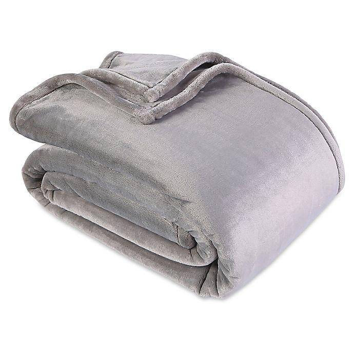 Alternate image 1 for Berkshire Blanket® VelvetLoft® Ecothread King Blanket in Stone