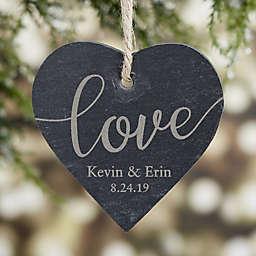 Engraved Love Slate Couple Ornament