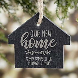 New Home Engraved Slate Ornament