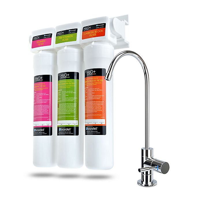 Alternate image 1 for Brondell® Coral H2O+ Coral Premium Three-Stage Under Sink Water Filter System