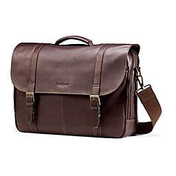 Samsonite® Leather Flapover Business Case