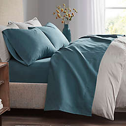 Madison Park 3M Scotchgard Microcell Queen Sheet Set in Teal