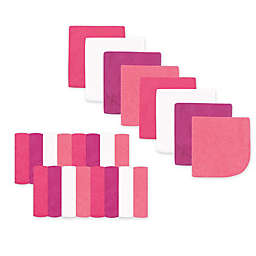 Luvable Friends® 24-Pack Washcloths in Bright Pink