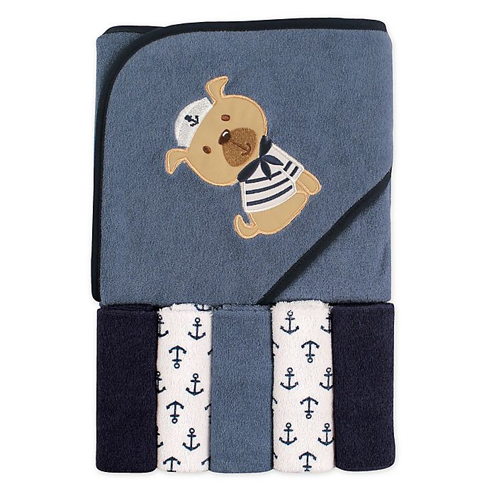Alternate image 1 for Luvable Friends® 6-Piece Hooded Towel and Washcloths Set