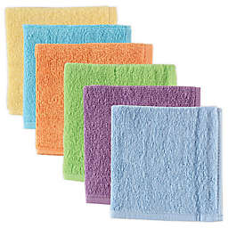 Luvable Friends® 6-Pack Washcloths in Yellow