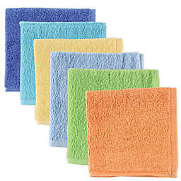 Luvable Friends® 6-Pack Washcloths in Blue