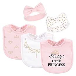 Little Treasure 5-Piece Mommy and Daddy Bib and Headband Set