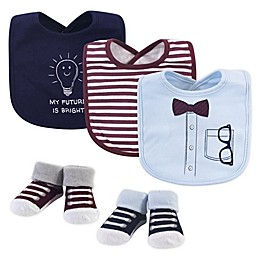 Little Treasure 5-Piece Bib and Sock Set