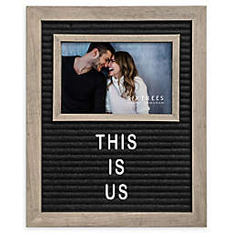 Sixtrees Ltd® Letterboard Picture Frame in Grey