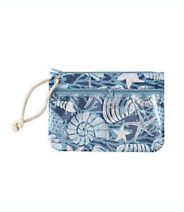 Bolsa para traje de baño Morgan Home con conchas en azul