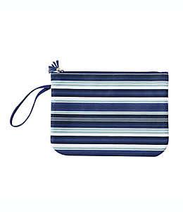 Bolsa para traje de baño con rayas en azul marino