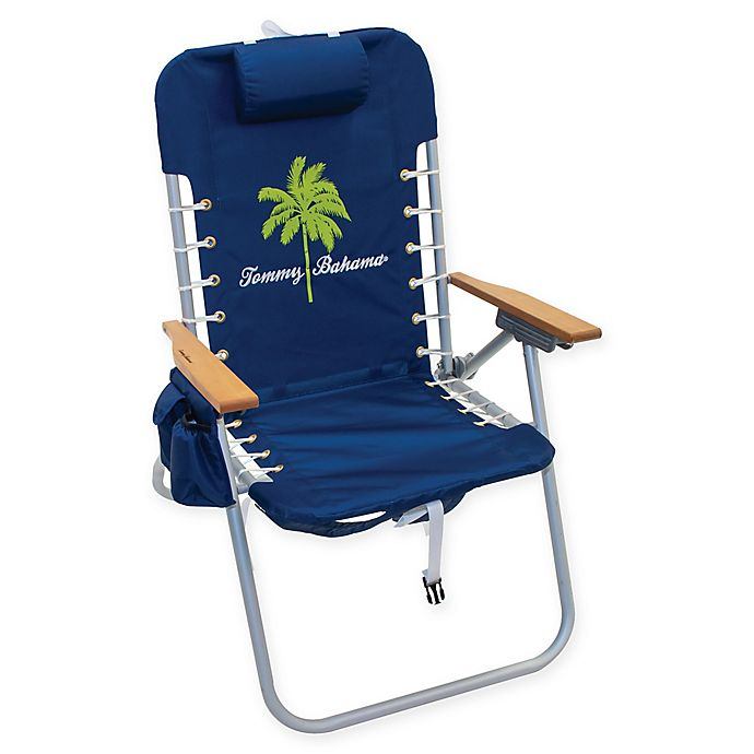 Alternate image 1 for Tommy Bahama Backpack Hi Boy Beach Chair in Blue