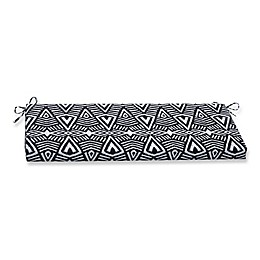 Pillow Perfect Bench Cushion in Tribal Dimensions Black