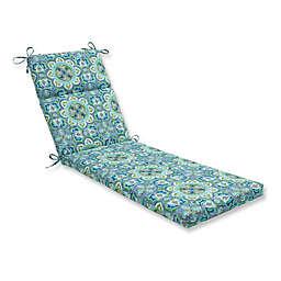Pillow Perfect Lagoa Tile Chaise Lounge Cushion in Blue