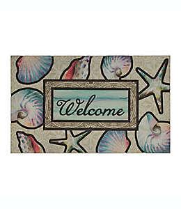 """Tapete para entrada Mohawk Home® Ocean Dream con frase """"Welcome"""""""