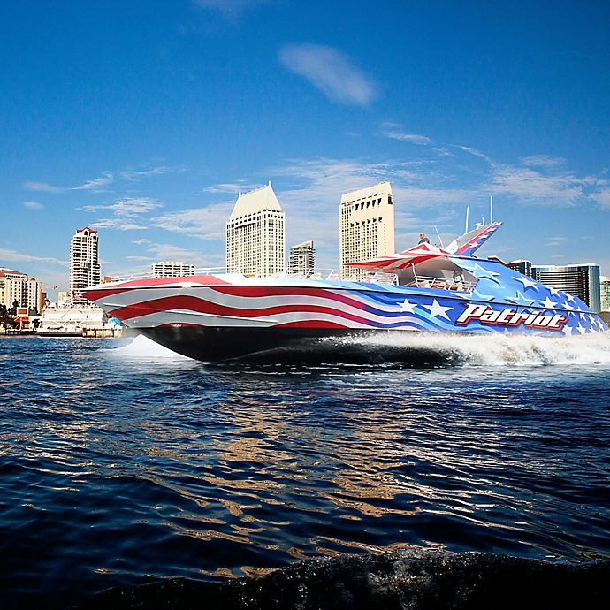 Alternate image 1 for San Diego California Patriot Jet Boat Thrill Ride by Spur Experiences®
