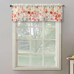 No.918® Rosalind Watercolor Floral Semi-Sheer Rod Pocket Kitchen Curtain Valance