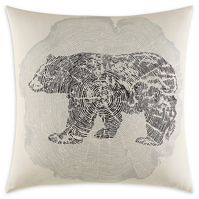 Alternate image 1 for Eddie Bauer Crosscut 20-Inch Square Throw Pillow in Grey
