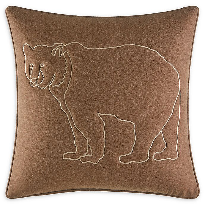 Alternate image 1 for Eddie Bauer Bear Lines 20-Inch Square Throw Pillow in Brown