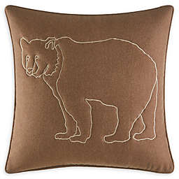 Eddie Bauer Bear Lines 20-Inch Square Throw Pillow in Brown