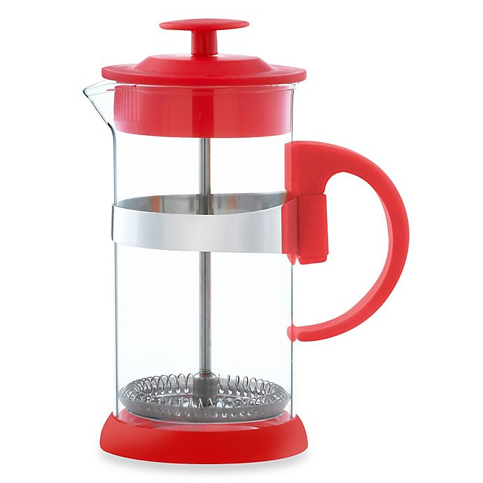 buy grosche zurich 3 cup french press in red from bed bath beyond. Black Bedroom Furniture Sets. Home Design Ideas