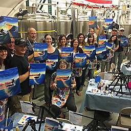 Poseidon Brewery Paint and Pint Class in Ventura, CA by Spur Experiences®