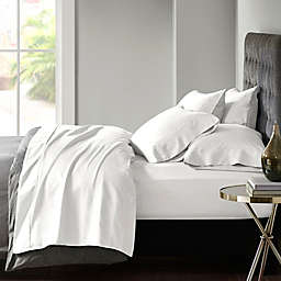 Madison Park 800-Thread-Count Cotton Blend Sateen 6-Piece Queen Sheet Set in White