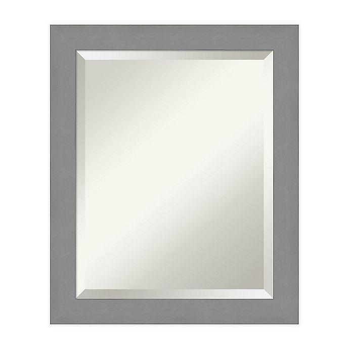 Amanti Art Brushed Nickel Vanity Mirror