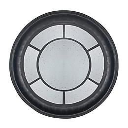 A&B Home Cameron 47-Inch Round Mirror in Satin Black