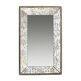A&B Home Dorthea 20-Inch x 12-Inch Rectangular Wall Mirror in Gold