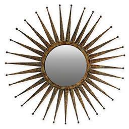 A&B Home Gemma Round Sunburst Wall Mirror