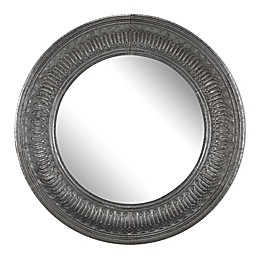 A&B Home Matis 45.3-Inch Round Wall Mirror in Antique