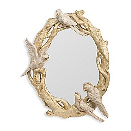A&B Home Ramani 21.7-Inch x 17.7-Inch Oval Wall Mirror in Gold