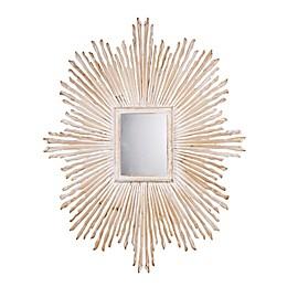 A&B Home Zwer 39.4-Inch x 31.5-Inch Rectangular Sunburst Mirror in Gold
