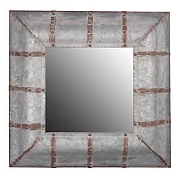 A&B Home Baldwin 20.3-Inch Square Wall Mirror in Zinc