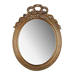 A&B Home Marquis Oval Mirror in Gold