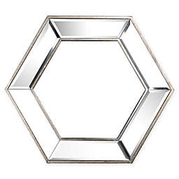 A&B Home Kirby 17.9-Inch x 20.7-Inch Hexagonal Wall Mirror