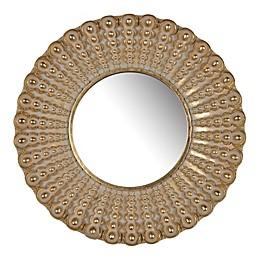 A&B Home Aubrey 18.8-Inch Round Sunburst Wall Mirror in Gold