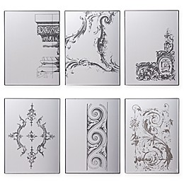 A&B Home Glam Wall Mirrors in Black (Set of 6)