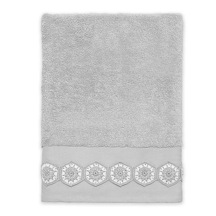 Avanti Somerville Bath Towel In Grey Bed Bath Beyond