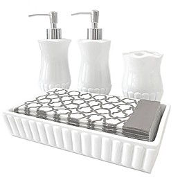 Indecor Home 5-Piece Bath in a Box Set