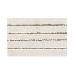 Madison Park Adrien Reversible High Pile Tufted Bath Rug in Ivory/Khaki