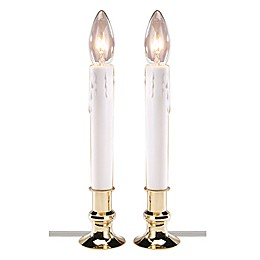 Electric Candle Lamps in Brass (Set of 2)