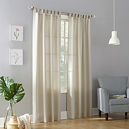No.918™ Jacob Heathered Texture Semi-Sheer Tab Top Window Curtain Panel