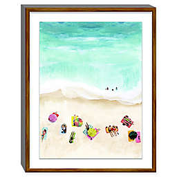 Artissimo Designs Beach Week 23-Inch x 29-Inch Framed Paper Print with Glass
