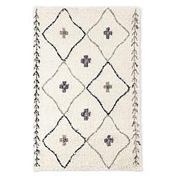 Amer Rugs® Denver Stripe Southwest 8'3 x 11'6 Shag Area Rug in Ivory