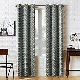 Sun Zero® Kenwood Chevron 95-Inch Room Darkening Window Curtain Panel in Gray
