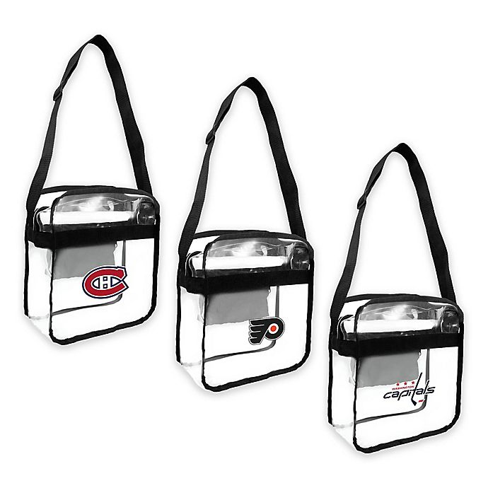 Alternate image 1 for NHL Clear Crossbody Carryall Collection