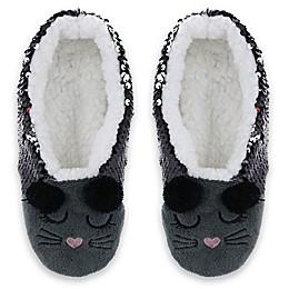 Capelli New York Women's Sequin Mouse Slipper Socks