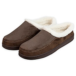 Loft Living Falcon Men's Memory Foam Moccasin Slippers in Brown